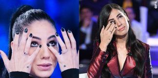 Giulia De Lellis Verissimo abito Norma Kamali Domenica In vestito Francesco Paolo Salerno