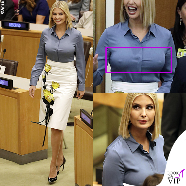 Ivanka Trump gonna Prada capezzoli