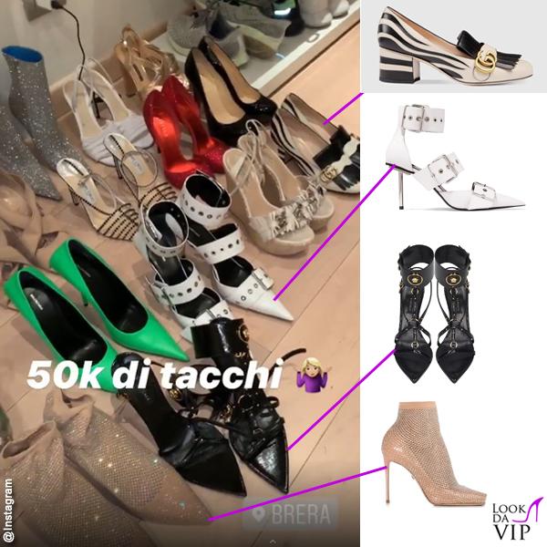 Taylor Mega mocassini Gucci scarpe Balenciaga sandali Versace decollete Le Silla