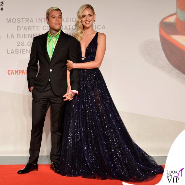 Venezia 76 Chiara Ferragni Unposted Chiara Ferragni abito Dior Fedez completo Versace
