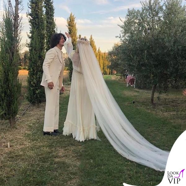 matrimonio Carolina Crescentini e Motta abiti Gucci 3