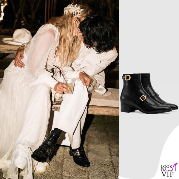 matrimonio Carolina Crescentini e Motta abiti Gucci 5