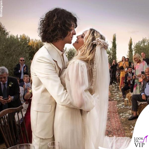 matrimonio Carolina Crescentini e Motta abiti Gucci 8