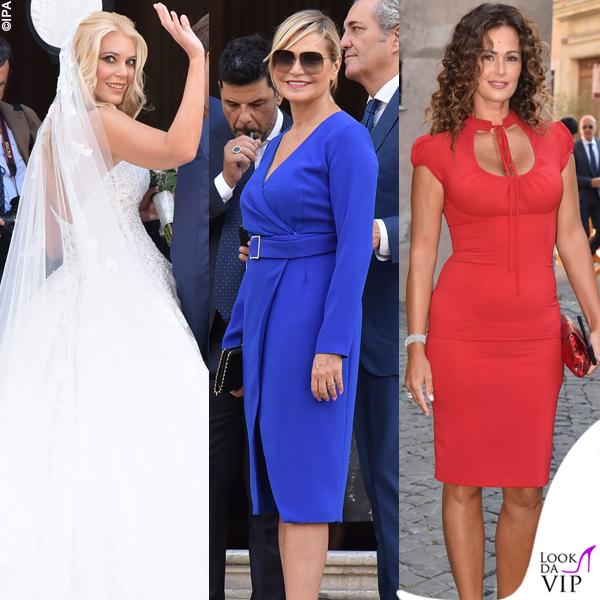 matrimonio Eleonora Daniele abito Alessandro Angelozzi Simona Ventura Samantha De Grenet
