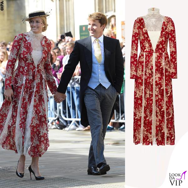 matrimonio Ellie Goulding James Blunt e Sofia Wellesley abito Red Valentino 2