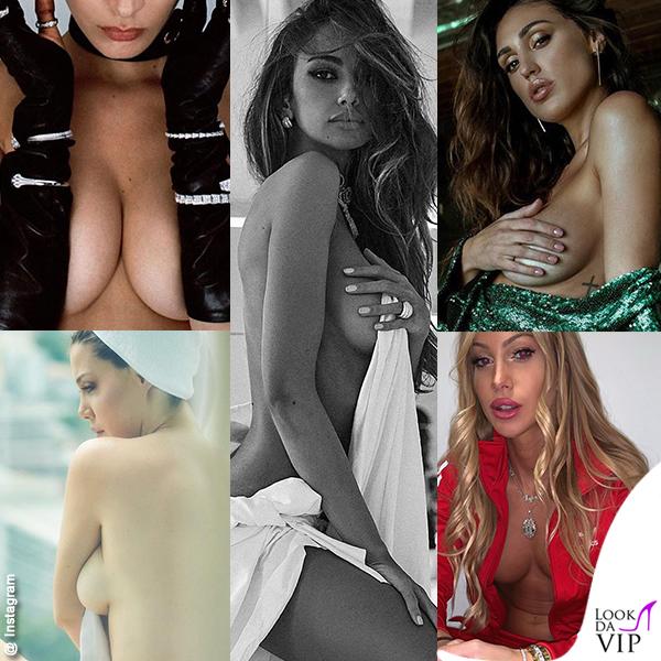 Bella Hadid, Madalina Ghenea, Cecilia Rodriguez, Wanda Nara, Taylor Mega in topless