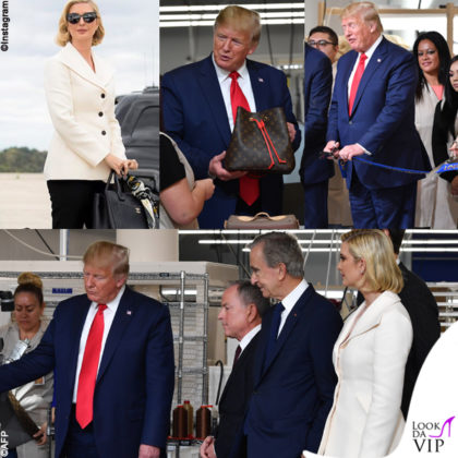 Donald Trump alla fabbrica Louis Vuitton in Texas