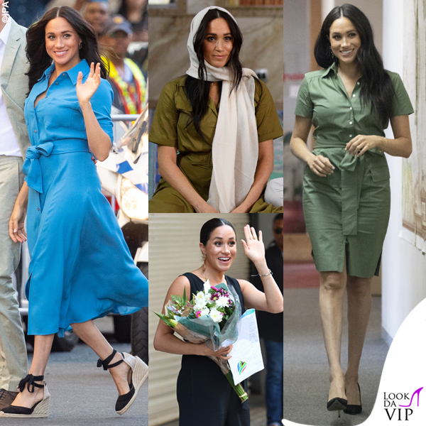Meghan Markle low cost per il tour in Africa