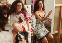 Paola Turani con outfit Tury per Twinset