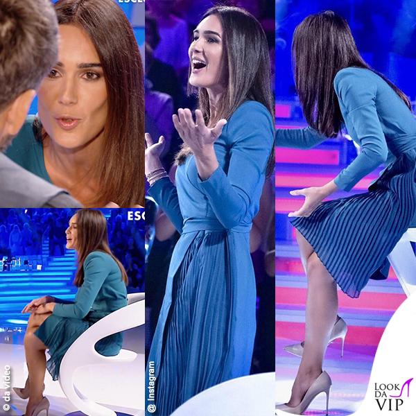 Silvia Toffanin in blu spegne il gossip