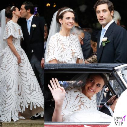 matrimonio tra Olympia von Arco Zinneberg e Jean-Christophe Napoléon Bonaparte, per la sposa abito Oscar de la Renta