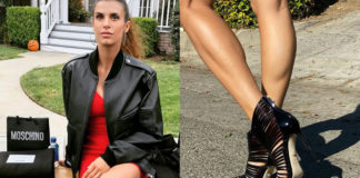 Elisabetta Canalis con scarpe Alevi