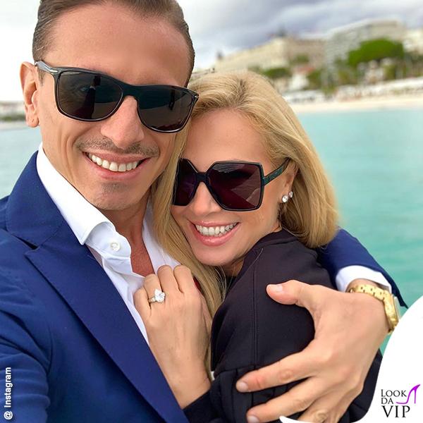 Federica Panicucci e il fidanzato Marco Bacini