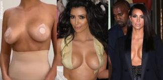 Kim Kardashian mostra come usare lo scotch per rialzare il seno