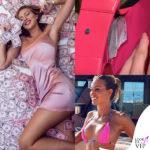 Taylor Mega indossa abito Fashionnova borsa Balenciaga e costume Mega Swim