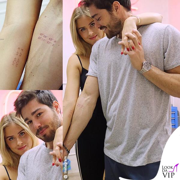 il tatuaggio di coppia di Valentina Ferragni e Luca Vezil