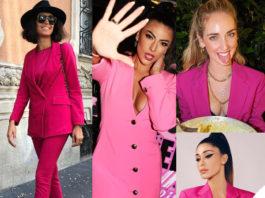 tutte le star con la giacca rosa