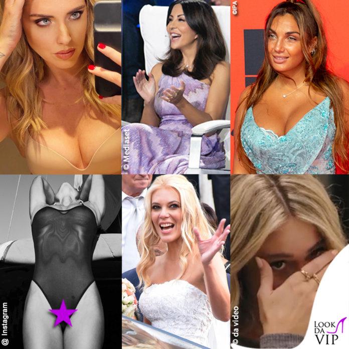 Chiara Ferragni, Sabrina Ferilli, Elettra Lamborghini, Zeta Jones censurata, Eleonora Daniele, Diletta Leotta