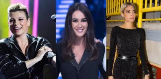 tute nere: Emma Marrone, Silvia Toffanin, Elodie Di Patrizi