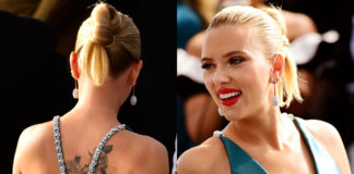 scarlett johansson ai sag awards in armani prive