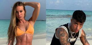 Taylor Mega in vacanza alle Maldive