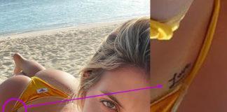 Wanda Icardi tatuaggio Love sedere bikini Bikini Lovers