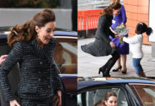 Kate Middleton gonna vento dolce e gabbana incidente sexy