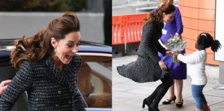 Kate Middleton gonna vento dolce e gabbana incidente sexy