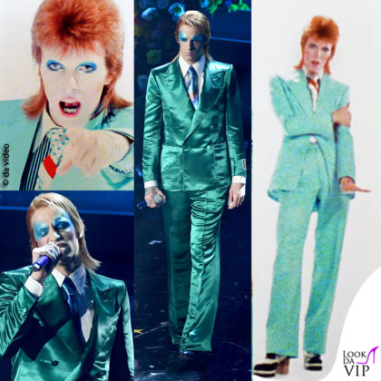 Achille Lauro interpreta David Bowie Ziggy Stardust