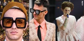 Achille Lauro con tre outfit Gucci