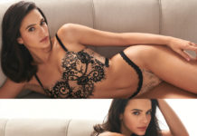 Bruna Marquezine in lingerie di pizzo è la testimonial di Intimissimi