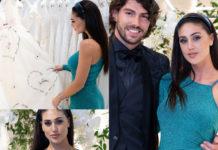 Cecilia Rodriguez e Ignazio Moser con abiti Atelier Eme