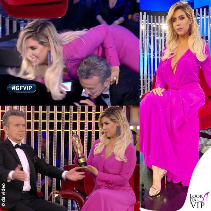 GF Vip (10 puntata) Wanda Nara abito Oud e Alfonso Signorini