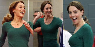 Kate Middleton di verde vestita all'evento SportsAid a Londra