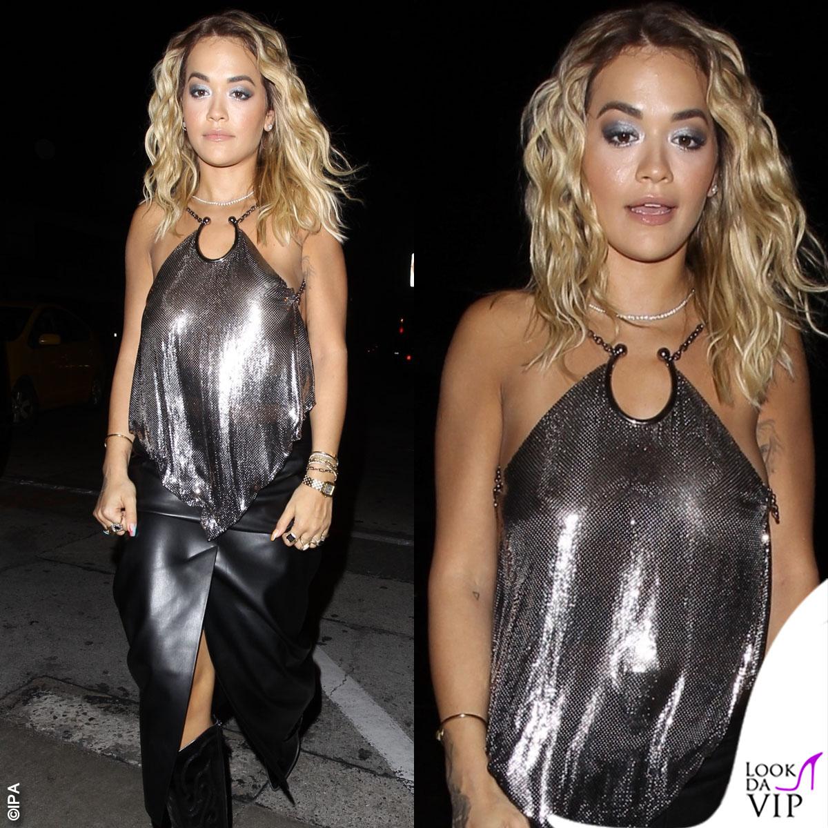 Rita Ora incontenibile: torna single e mostra il seno Look