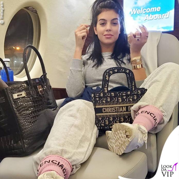Georgina Rodriguez sul jet privato