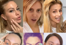 Taylor Mega struccata Wanda Nara senza trucco Michelle Hunziker, Paola Turani, Costy Caracciolo, Aurora Ramazzotti struccate