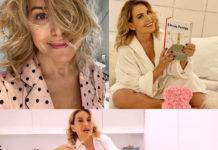 Barbara dUrso pigiama cucina letto