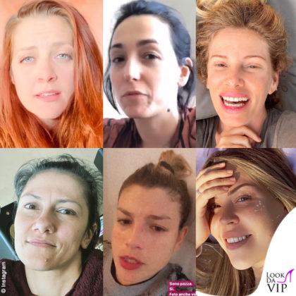 Struccate: Noemi, Caterina Balivo, Alessia Marcuzzi, Elisa Toffoli, Emma Marrone, Costanza Caracciolo
