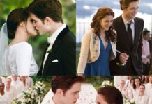 """Kristen Stewart nei panni di bella swan e Robert Pattinson nei panni di edward cullen nel film """"Twilight"""""""