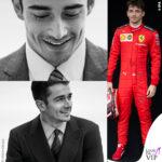 Charles Leclerc tetimonial Giorgio Armani pilota Ferrari