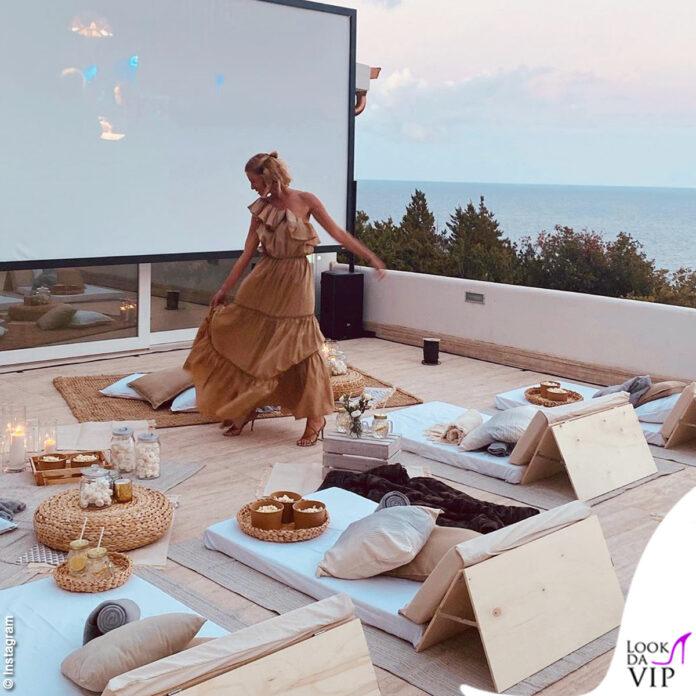 Alessia Marcuzzi Movie Dinner con abito Federica Tosi