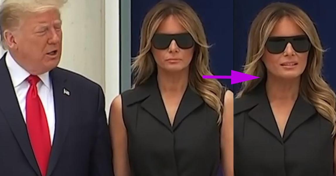 Melania Trump, il suo sorriso a comando fa il giro del web (