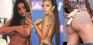 Elettra Lamborghini sfodera la leopardanza e gli altri tatuaggi