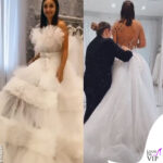Elettra Lamborghini prova il vestito da sposa 0