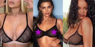 reggiseno trasparente: Kylie Jenner, Irina Shayk, Rihanna, Laetitia Casta, Giulia De Lellis, Elsa Hosk
