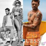 Francesco Monte e Jennifer Lopez testimonial Guess