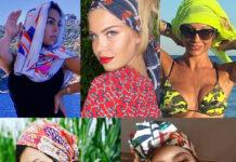 Georgina Rodriguez Costanza Caracciolo Maddalena Corvaglia Fernanda Lessa Lodovica Comello foulard