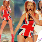 Geri Halliwell con lo Union Jack Dress ai Brit Awards 1997