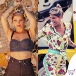 Karaoke Alessandra Amoroso outfit Dolce Gabbana